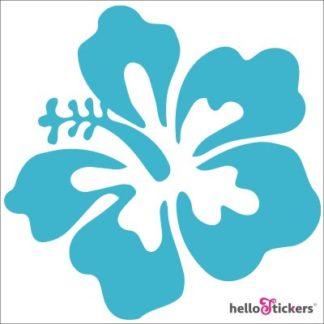 autocollant fleur exotique hibiscus Hawaï