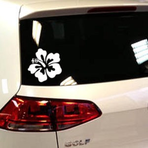stickers voiture fleur hibiscus