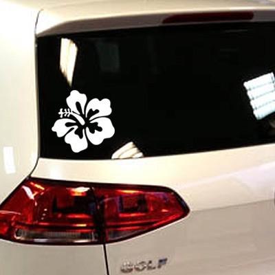 Stickers fleur hibiscus