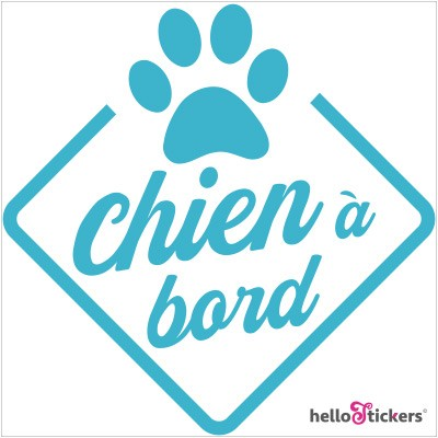 Sticker chien à bord