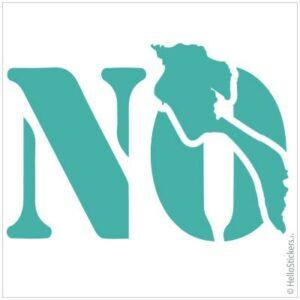 stickers autocollants ile de Noirmoutier NO en Vendée Aigue marine