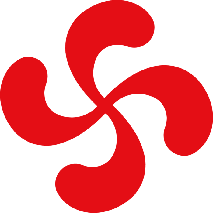 autocollant croix basque_sticker rouge