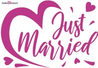 autocollant mariage Just married