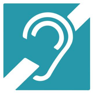 autocollant malentendant sourd handicap