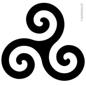 stickers du triskèle Triskel Triskell symbole celtique Bretagne