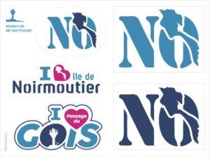 Autocollant stickers Passage du Gois Ile de Noirmoutier