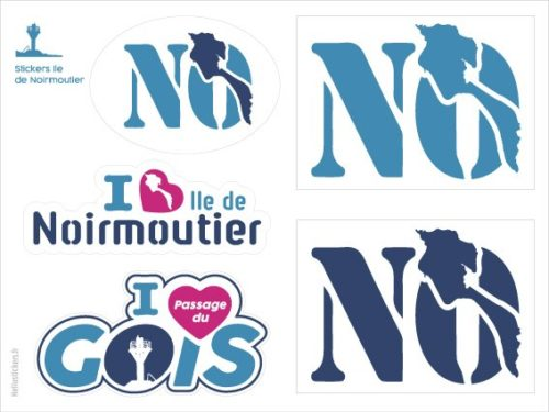 Ile de Noirmoutier – Passage du Gois planche autocollants stickers I love Noirmoutier