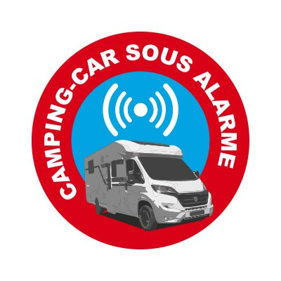 4 Stickers autocollants alarme camping car