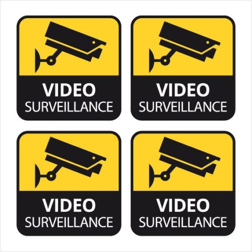 video surveillance sticker autocollant camera