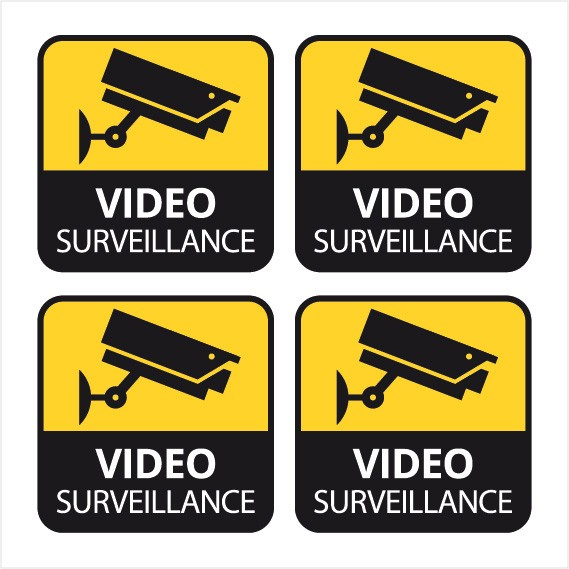 video surveillance sticker autocollant camera