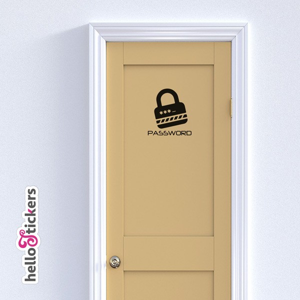 stickers autocollants porte chambre password mot de passe
