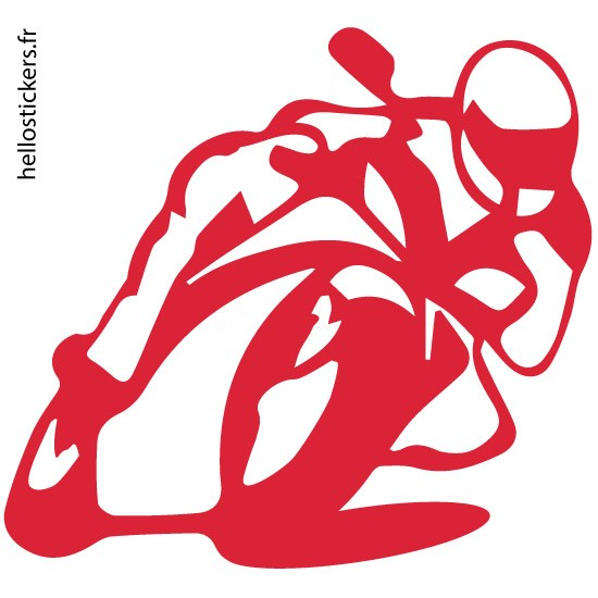 Stickers autocollants rouge motos sport circuits