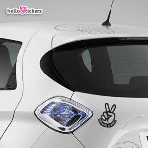 Stickers autocollants Motard à bord Motarde à bord noir transparent pour voiture