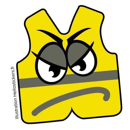 stickers autocollants Gilets Jaunes en colère