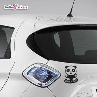 Autocollant Bébé à Bord Panda Stickers pour voiture – ref 050119b