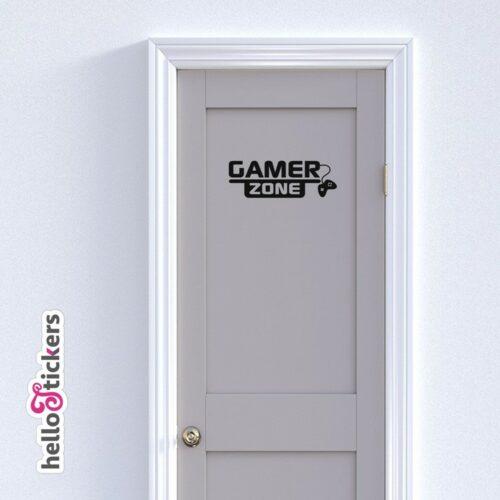 Sticker autocollant Gamer Zone, 100% Gamer – adhésif pour portes, ordinateur portable mac ou pc