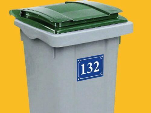 Stickers autocollants numéro de rue personnalisé pour porte, boîte aux lettres, poubelle
