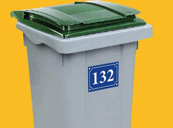 080119 sticker autocollant numéro de rue adhésif pour poubelles