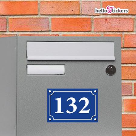 080119 stickes autocollant adhésif numéro de rue personnalisé pour boites aux lettres