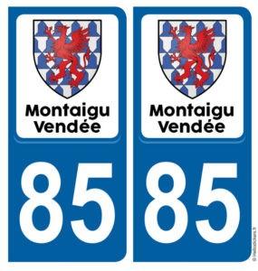 Montaigu Vendée commune nouvelle stickers autocollant adhésif _immatriculation_montaigu_vendee
