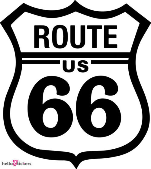 Road 66 sticker autocollant road 66 US, route 66 pour déco portes, motos