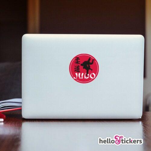 Sticker autocollant judo sport club avec signe japonais