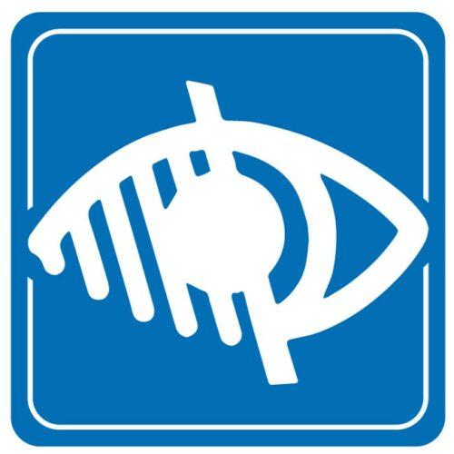 Sticker autocollant mal voyant, aveugle accessibilité handicapé