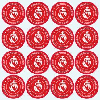 16 Stickers autocollants étiquettes produits vendéens, produits de Vendée