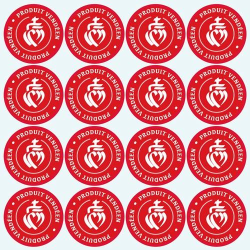 Stickers autocollants étiquettes produits vendéens, produits de vendée étiquetage produit