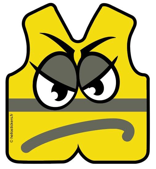 autocollants gilets jaunes pour manif manifestations stickers gilets jaunes adhésifs