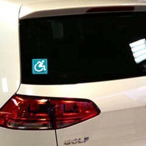 autocollant stickers rampe d'accès handicapés, handicapé à bord voiture porte