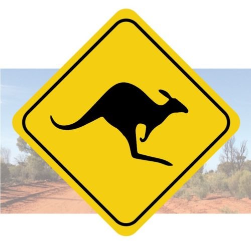 Sticker traversée de Kangourou panneau autocollant de déco Australie