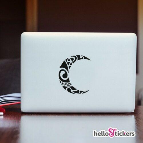 Sticker autocollant art symbole tribal demie-lune