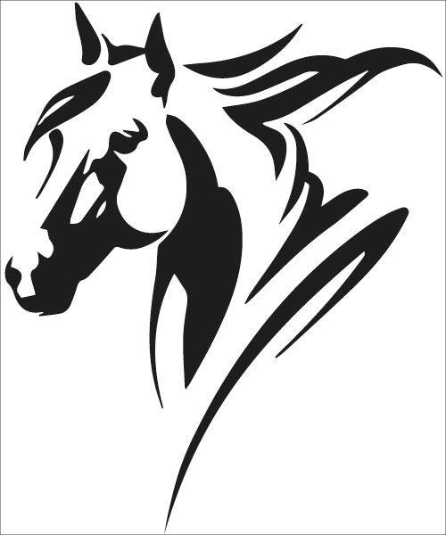 Sticker autocollant cheval, tête de cheval équitation pour voiture, pc, mac