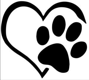 autocollant animal a bord coeur patte chien chat voiture