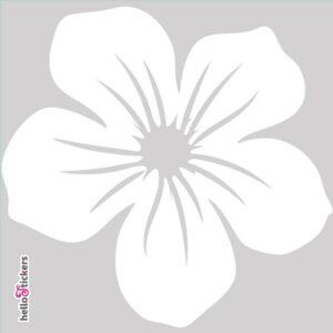 010619 autocollant sticker fleur tribal hawai blanc