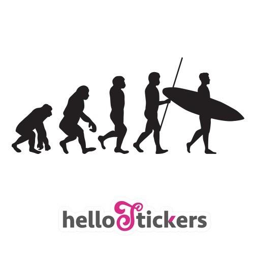 300619 autocollant evolution homme sticker surf noir