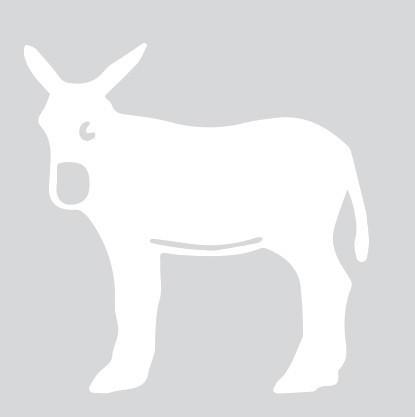sticker autocollant âne catalan catalogne blanc