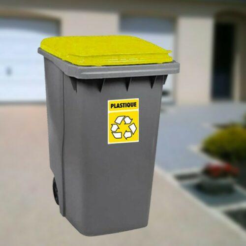 Sticker autocollant symbole tri sélectif pour poubelles