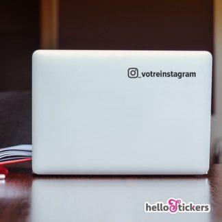 Sticker autocollant Instagram et pseudo personnalisable réseaux sociaux à votre compte – ref 270719b