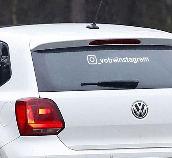 270719b sticker autocollant_ instagram personnalisable personnalisé pour voiture véhicule