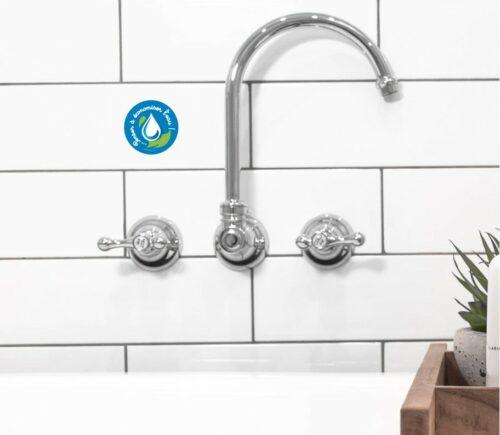 4 Stickers autocollants environnement économiser l'eau protection nature