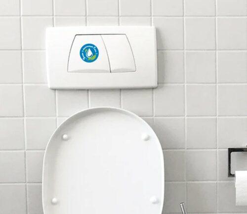Sitcker autocollant économiser l'eau préserver l'environnement – ref 080421
