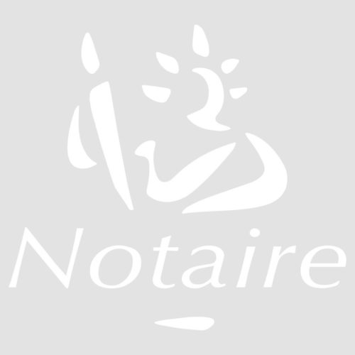 Stickers autocollants Office Notarial logo Marianne Notaire 1×1 m