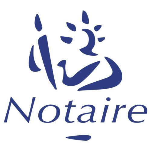 Stickers autocollants Office Notarial logo Marianne Notaire