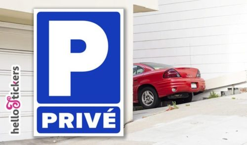 Stickers autocollants parking privé interdit de stationner