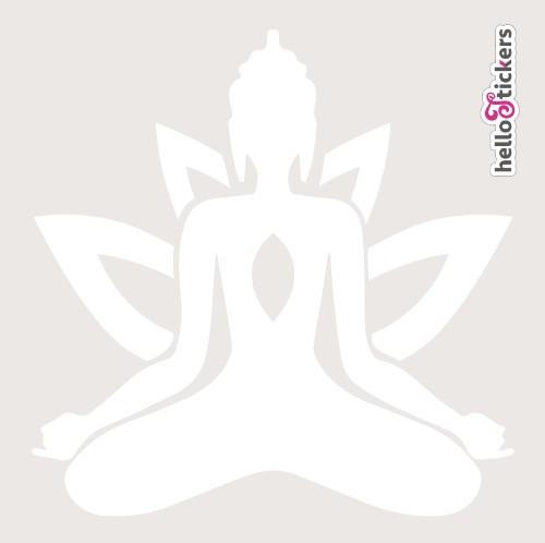 stickers-autocollant-bouddha-zen-avec-fleur-de-lotus-blanc