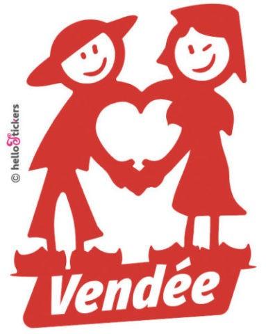 Sticker autocollant Vendée personnages vendéens