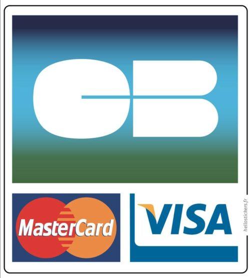 Sticker autocollant logo Cb paiement par carte bancaire