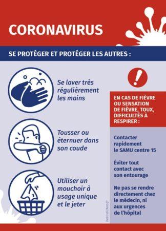 sticker autocollant coronavirus infos prévention